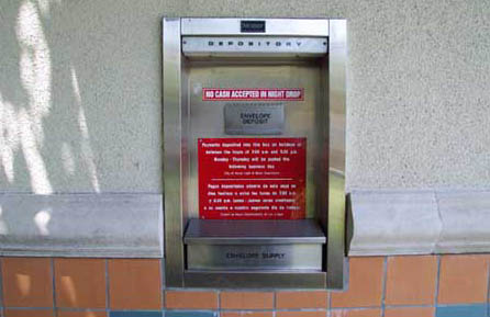 Payment Drop Box in back of Light and Water Building