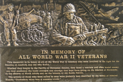 WWII Memorial Plaque at Azusa City Hall
